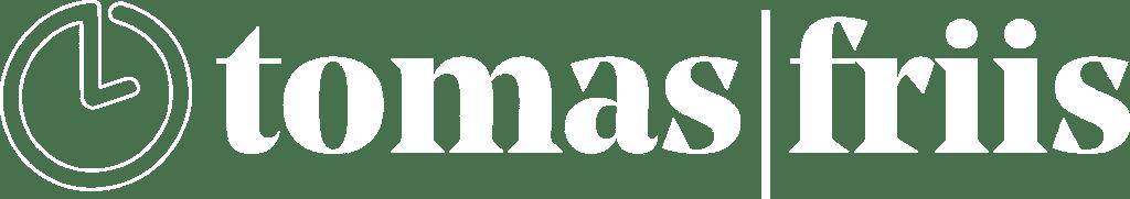 tomas friis - Logotype - white